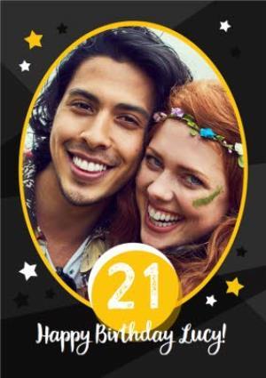 Greeting Cards - 21st Birthday Card - Photo Upload twenty first birthday card - Image 1