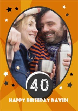 Greeting Cards - Customised 40th Birthday Cards - Use your own pictures to create a photo birthday card - Image 1