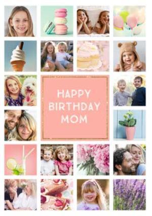 Greeting Cards - Birthday Card - Photo Upload Card - 20 Photos - Mum - Image 1