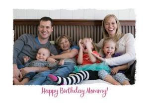Greeting Cards - Birthday Card - Photo Upload Card - Mummy - Image 1