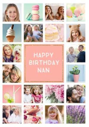 Greeting Cards - Birthday Card - Photo Upload Card - 20 Photos - Nan - Image 1