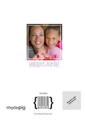 Greeting Cards - Birthday Photo Upload Card  - Most Amazing Auntie - Image 4