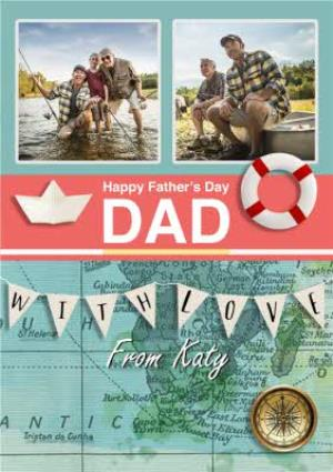 Greeting Cards - Fishing and Sailing Father's Day Photo Card - Image 1