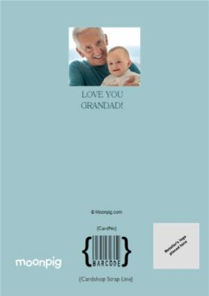 Greeting Cards - Father's Day Card - Happy Father's Day Grandad - Photo Upload - Image 4