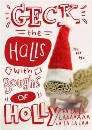 Greeting Cards - Deck The Halls Christmas Greetings Card - Image 1
