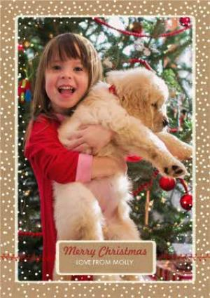 Greeting Cards - Dropping Snowflakes Merry Christmas Photo Card - Image 1