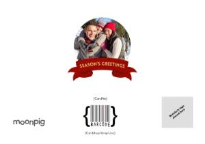 Greeting Cards - Christmas Red Tag Photo Upload Card - Image 4