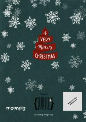 Greeting Cards - A Very Merry Christmas Ribbon Personalised Card - Image 4