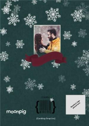 Greeting Cards - Falling Snowflakes Across The Miles Photo Upload Christmas Card - Image 4