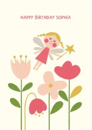 Greeting Cards - Fairy And Flowers Birthday Card  - Image 1