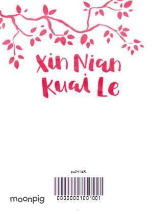 Greeting Cards - Xin Nian Kuai Le Personalised Happy Chinese New Year Card - Image 4