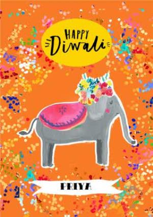Greeting Cards - Colourful Diwali Card - Image 1