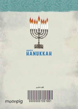 Greeting Cards - Candelabra And Star Of David Personalised Happy Hanukkah Card - Image 4