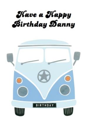 Greeting Cards - Campervan Personalised Happy Birthday Card - Image 1