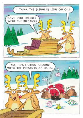 Greeting Cards Reindeer Joke Comic Christmas Card Image