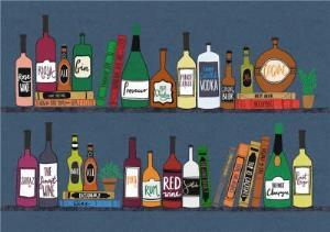 Greeting Cards - Alcohol On Shelf Horizontal Photo Card - Image 1