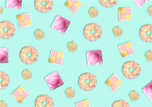 Greeting Cards - Doughnuts French Fancies And Battenburg Personalised Happy Birthday Card - Image 1