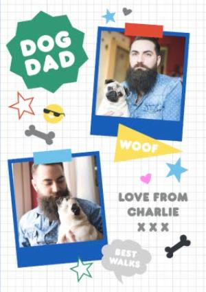 Greeting Cards - Dog Dag Fathers Day Photo Card - Image 1