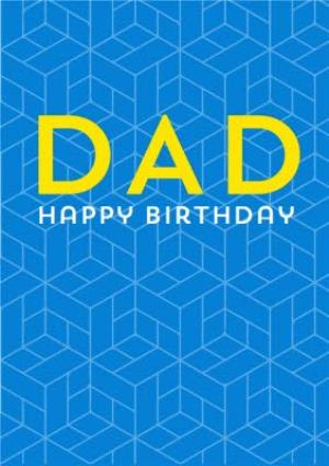Greeting Cards - Birthday Card - Dad - Graphic Pattern - Image 1