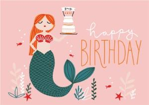 Greeting Cards - Birthday Card - Happy Birthday - Mermaid - Image 1