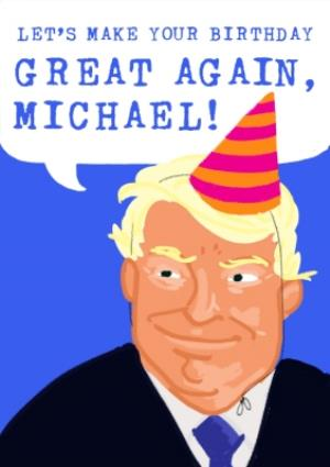 Donald Trump Birthday Card A