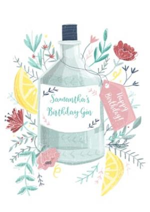 Greeting Cards - Birthday Card - Birthday Gin - Alcohol - Gin And Tonic - Image 1