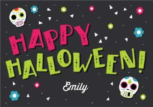 Greeting Cards - Cartoon Halloween Card - Image 1