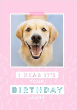 Greeting Cards - Female modern Birthday Card for her with labrador dog - Image 1