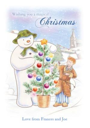Greeting Cards - The Snowman Wishing You A Magical Christmas Card - Image 1