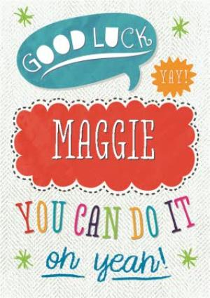 Greeting Cards - Personalised You Can Do It Can Do It Card - Image 1