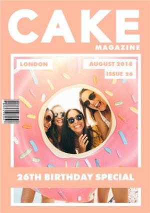 Greeting Cards - Cake Magazine Cover Photo Upload Card - Image 1