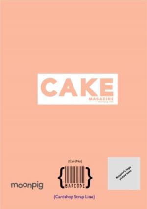 Greeting Cards - Cake Magazine Cover Photo Upload Card - Image 4