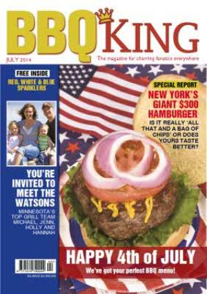 Greeting Cards - Bbq King Spoof Magazine Personalised Photo Upload Happy Birthday Card - Image 1