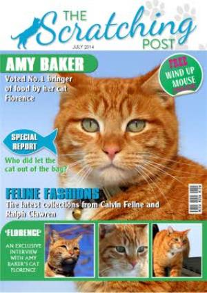 The Scratching Post Cat Magazine Spoof Personalised Photo Upload