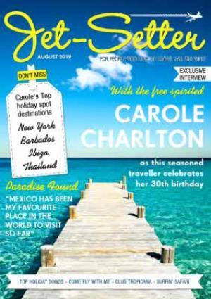 Greeting Cards - Jet-Setter Magazine Personalised Card - Image 1