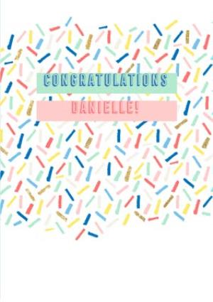 Greeting Cards - Confetti Congratulations Card  - Image 1
