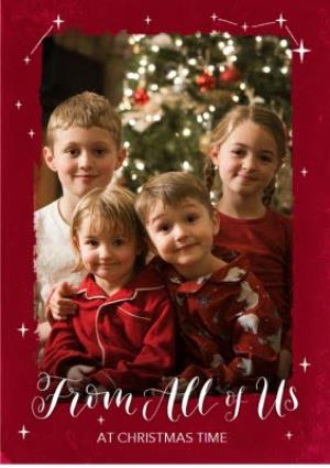 Greeting Cards - Christmas Card - Photo Upload - Stars - from all of us - Image 1