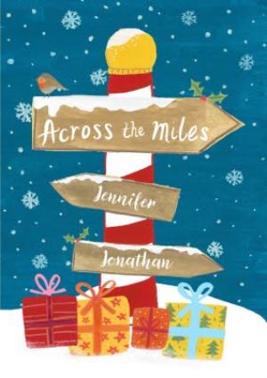 Greeting Cards - Christmas Card - Across The Miles - Illustration - Image 1