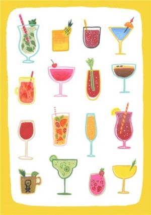 Greeting Cards - Cocktails Birthday Card - Party  - Image 1