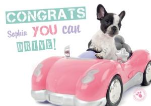 Greeting Cards - Congrats You Can Drive Personalised Card - Image 1