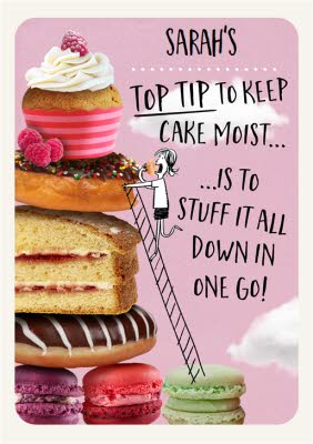 Image of: Birthday Memes Greeting Cards Funny Birthday Card For Her Cakes And Baking Image Moonpig Funny Birthday Card For Her Cakes And Baking Moonpig