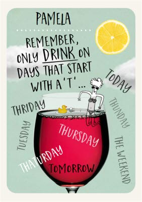 Image of: Birthday Wishes Greeting Cards Funny Birthday Card For Her Wine Image Moonpig Funny Birthday Card For Her Wine Moonpig