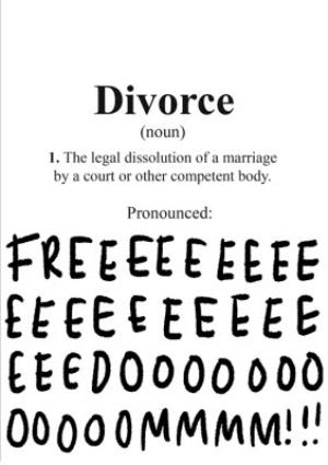 Greeting Cards - Divorce card - Freedom - Image 1
