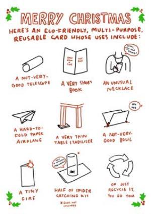 Christmas Card - Humour Quotes - Eco Friendly - Reusable - Multi Purpose -  Christmas Card
