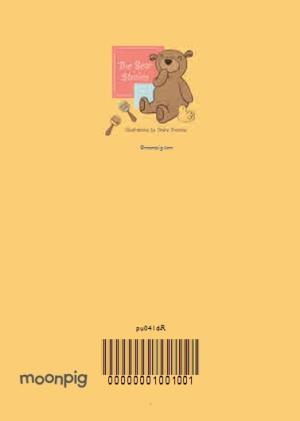 Greeting Cards - Bear Cuddles New Baby Photo Card - Image 4