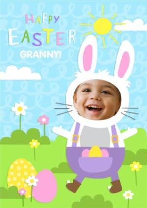 Greeting Cards - Face Upload Happy Easter Granny Card - Image 1