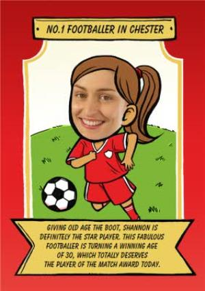 Greeting Cards - Birthday Card - Face In The Hole - Female - Photo Upload - Sport - Football - Image 1