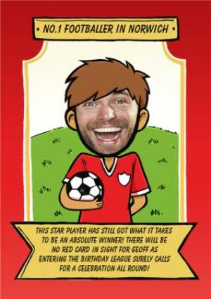 Greeting Cards - Birthday Card - Face In The Hole - Male - Photo Upload - Sport - Football - Image 1