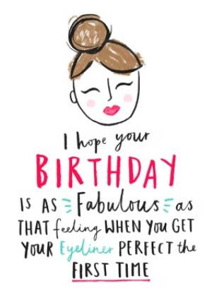 Greeting Cards - Female Birthday card - quick card - make-up - Image 1