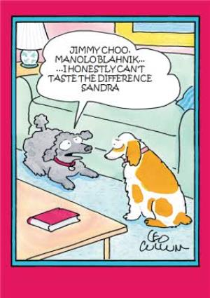 Greeting Cards - Cartoon Dogs Funny Caption Personalised Card - Image 1